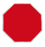 Red Octagon Blank Sign Stock Images