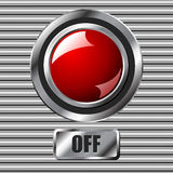Red off button Stock Images