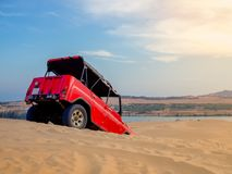 Off Road Car on Desert royalty free stock image