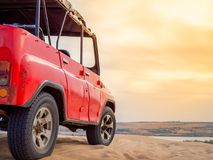 Off Road Car on Desert royalty free stock images
