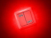 Red on and off switch Stock Photos