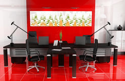 Red office Royalty Free Stock Images