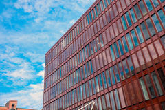 Red office building in Hamburg Stock Photography