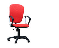 The red office chair. Isolated Stock Images