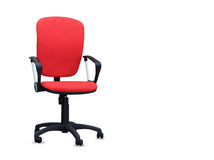 The red office chair. Isolated Stock Photos