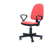 Red office chair isolated over white Stock Photos