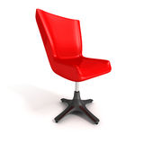 Red office chair over white background Stock Image