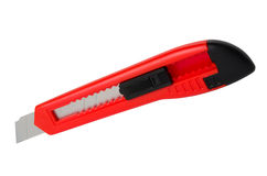 Red office knife (cutter) Royalty Free Stock Photo