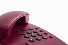 Red office phone Royalty Free Stock Images