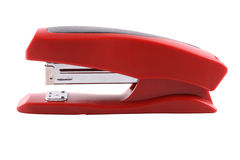 Red office stapler Royalty Free Stock Photo
