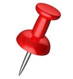 Red pushpin Stock Photos
