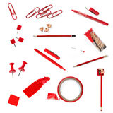 Red Office Supplies Royalty Free Stock Photography