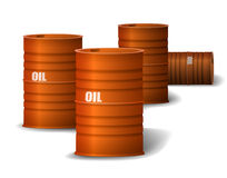 Red Oil barrel Royalty Free Stock Photo