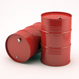 Red oil barrels Royalty Free Stock Photo