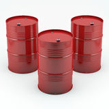 Red oil barrels. Isolated on white background.High resolution Royalty Free Stock Image