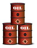 Red oil barrels Stock Image