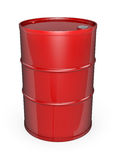 Red oil drum. Red oil barrel. High quality 3D rendered image Royalty Free Stock Photos