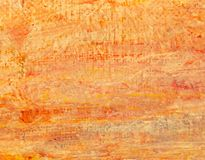 Red oil paint on canvas as abstract background.  stock photos