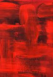 Red oil painting, brush strokes texture Royalty Free Stock Photos