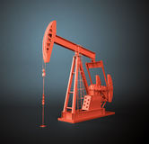 Red oil pump Royalty Free Stock Photography