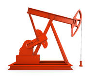 Red oil rig Royalty Free Stock Images