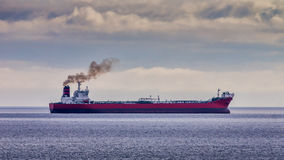 Red Oil Tanker Royalty Free Stock Photography