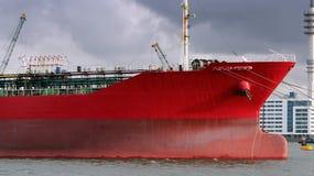 Red Oil Tanker Stock Image