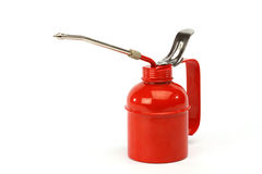Red oiler. Close up over white background Royalty Free Stock Photography