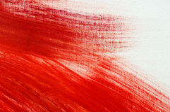 Red oilpainting on canvas Royalty Free Stock Photos