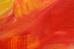 Red oilpainting on canvas Royalty Free Stock Image