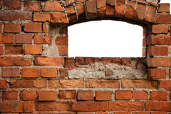 Red old brick framework with white. Royalty Free Stock Photo