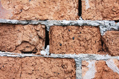 A red old brick masonry Stock Photography