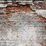 A red old brick masonry Stock Images