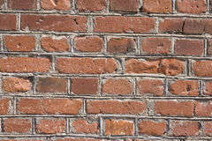 Red old brick wall background. Image stock photo
