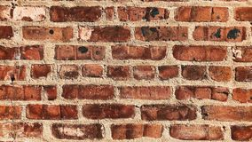 Red old brick wall texture as a background royalty free stock photo