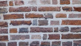 Red old brick wall texture as a background stock photo