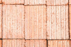 Red old bricks stacked in piles Royalty Free Stock Photo