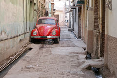Red Old Car Royalty Free Stock Photography