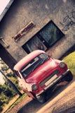 Red veteran car Royalty Free Stock Images