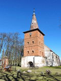 Red old church , Lithuania Royalty Free Stock Photos