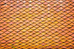 Red old Clay tile roof texture abstract background Stock Images