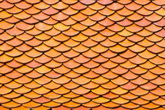 Red old Clay tile roof texture abstract background Stock Photography