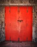 Red old door Stock Images
