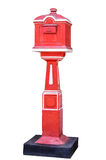 Red old-fashioned mailbox Royalty Free Stock Photo