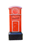 Red old-fashioned mailbox Royalty Free Stock Photography