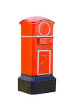 Red old-fashioned mailbox Royalty Free Stock Photos