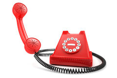 Red old-fashioned phone Royalty Free Stock Images