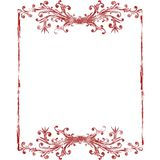 Red old grunge frame Royalty Free Stock Images