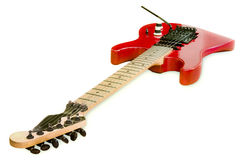 Red Old Guitar Royalty Free Stock Images