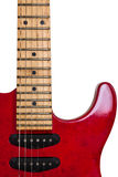 Red Old Guitar Royalty Free Stock Image